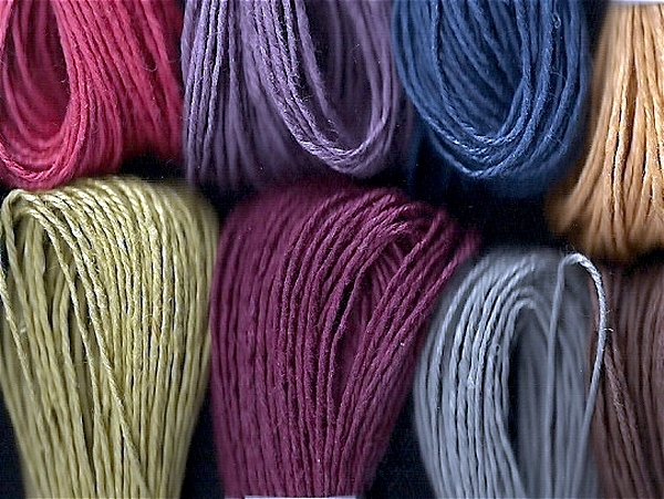 dyed linen thread